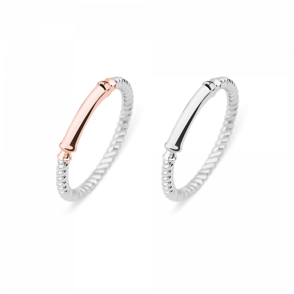 Set Perfect Match Starboard Ring Rose Gold and Silver