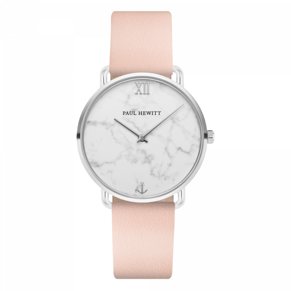Watch Miss Ocean Marble Silver Leather Nude
