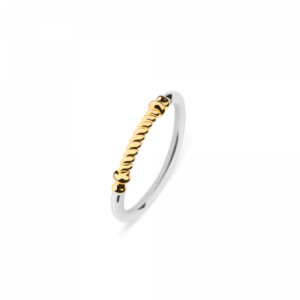 Ring Rope Portside IP Gold / Edelstahl