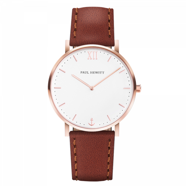 Watch Sailor White Sand Rose Gold Leather Brown