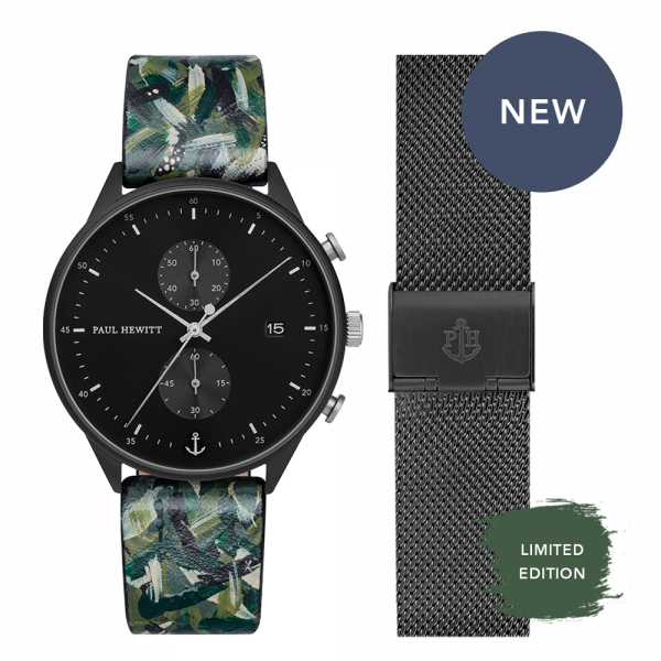 Set Perfect Match Born Originals Chrono und Camo Strap