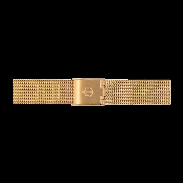Uhrenarmband Mesh IP Gold 12mm