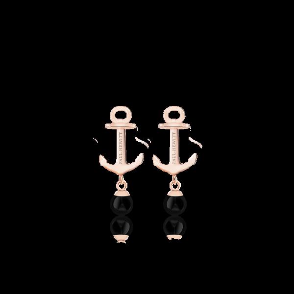 Ohrstecker Anchor Pearl Roségold Onyx