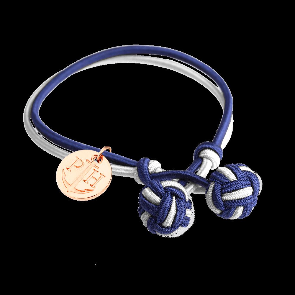 PAUL HEWITT Knotbracelet Navy Blue-Light Blue