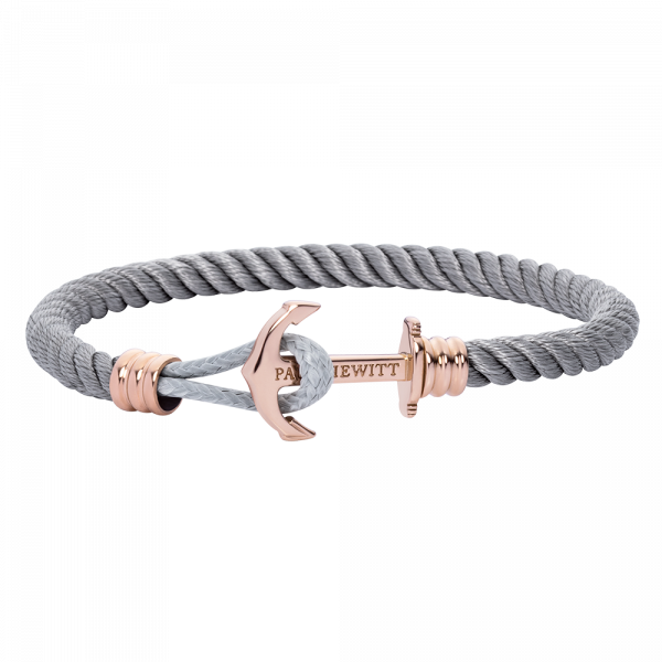 Anchor Bracelet Phrep Lite Rose Gold Nylon Grey