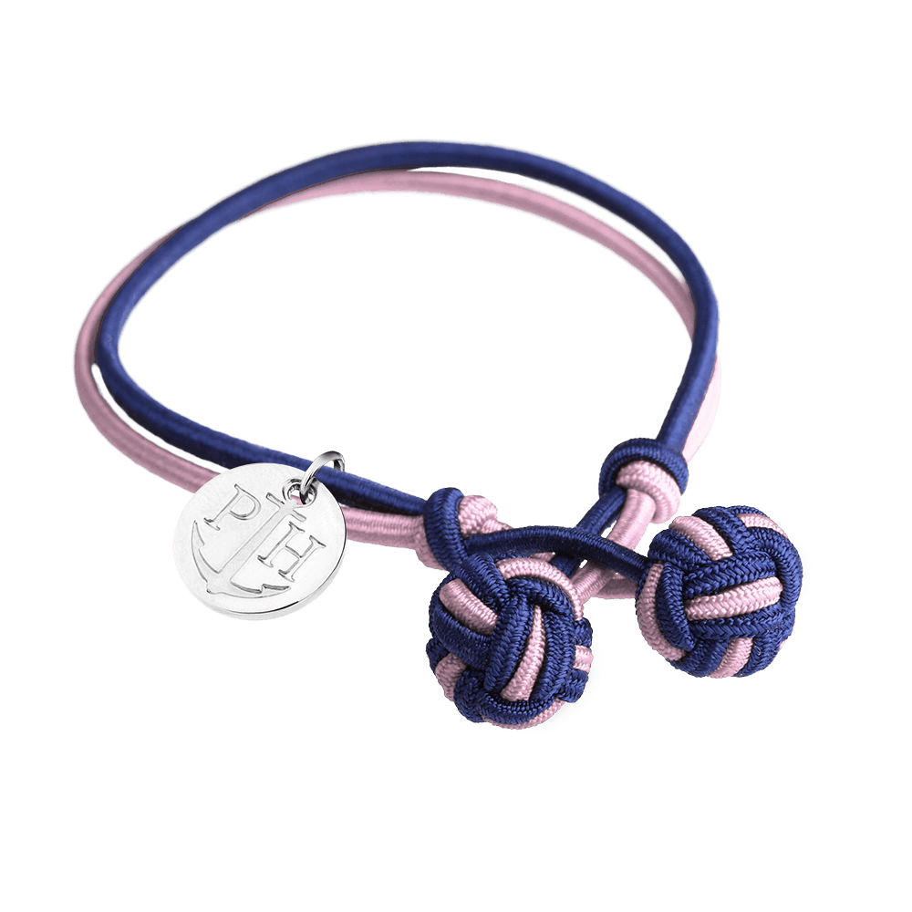 PAUL HEWITT Knotbracelet Navy Blue-Light Pink