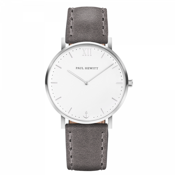 Watch Sailor White Sand Silver Leather Grey