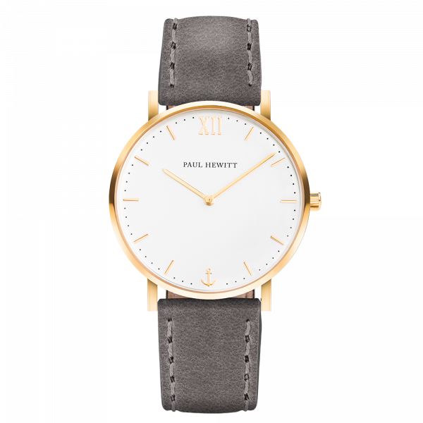 Watch Sailor White Sand Gold Leather Grey
