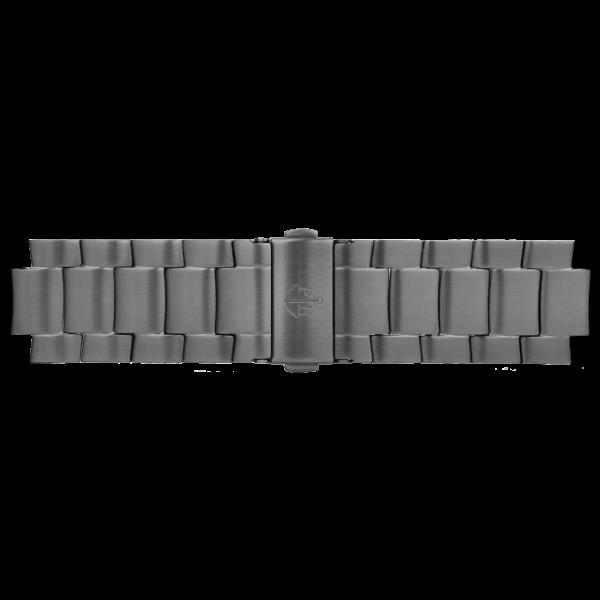Uhrenarmband Metall IP Gun Metal 20mm