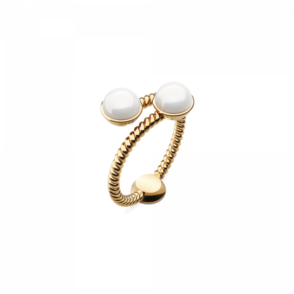 Ring Rope Pearl Gold