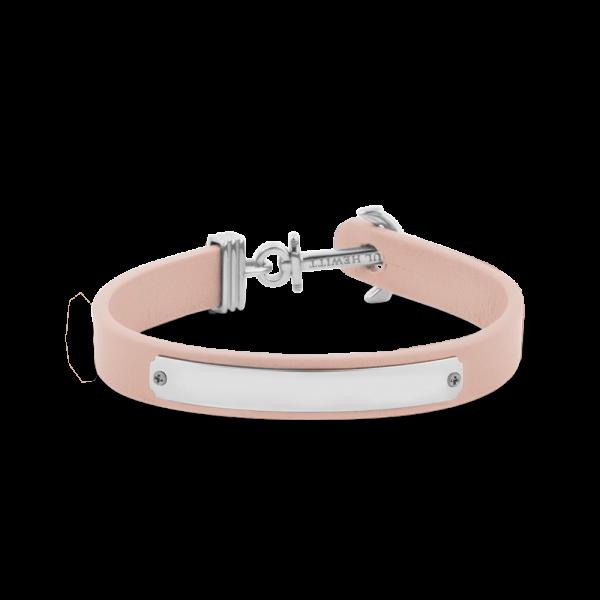 Anchor Bracelet Signum Silver Leather Nude