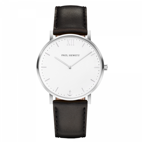 Watch Sailor White Sand Silver Leather Black