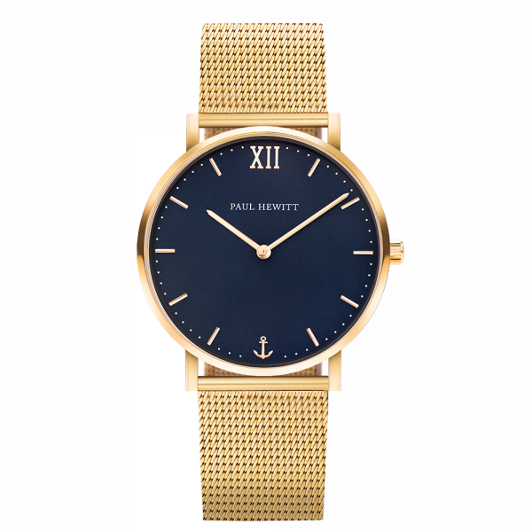 Uhr Sailor Line Blue Lagoon IP Gold Meshband IP Gold