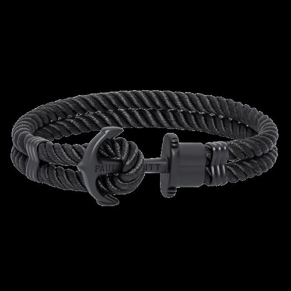 Ankerarmband Phrep Schwarz Nylon Schwarz