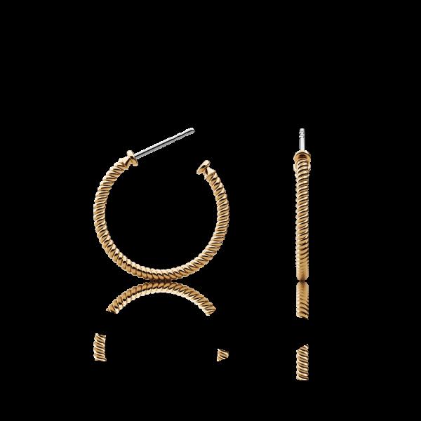 Ohrstecker Rope Hoop Gold