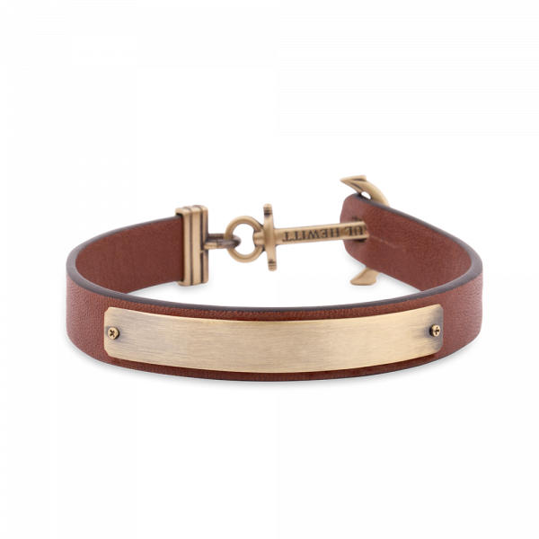 Anchor Bracelet Signum Engraving Br Brown