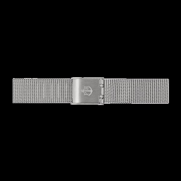 Uhrenarmband Mesh Silber 12 mm