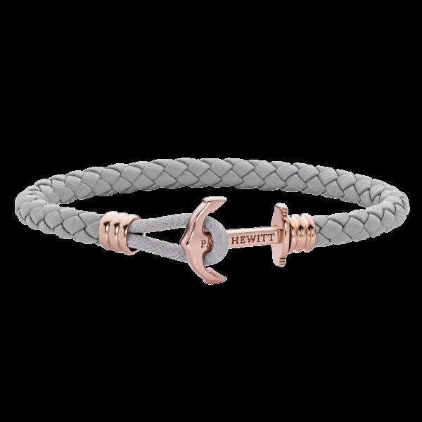 Ankerarmband Phrep Lite Roségold Leder Grau