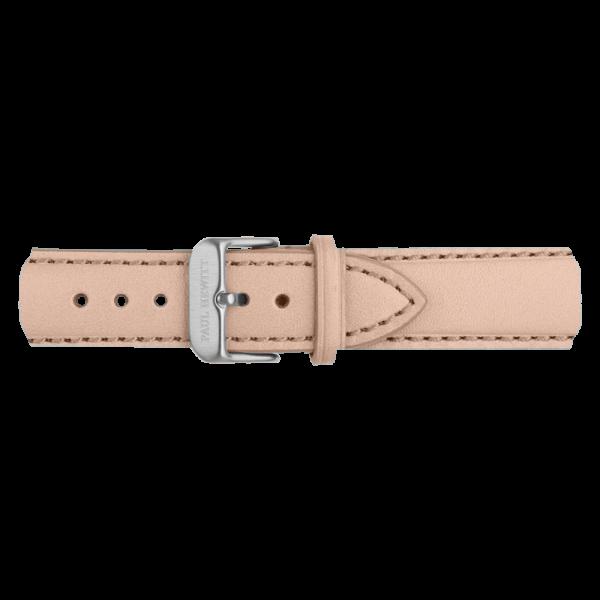 Uhrenarmband Leder Silber Hazelnut 20 mm