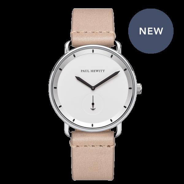 Watch Breakwater White Sand Silver Leather Sandstone