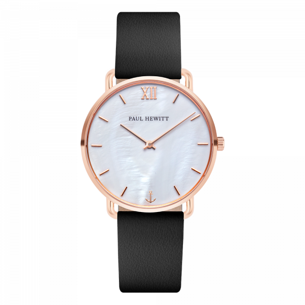 Watch Miss Ocean Pearl Rose Gold Leather Black